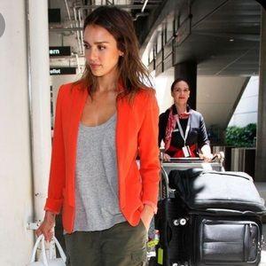 Chaser Collection Orange Silk Blazer